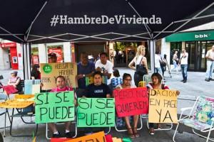 #HambreDeVivienda. Foto: Stop Desahucios Zaragoza