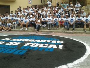 Aguaviva, 28 de agosto de 2013. Foto: Plataforma 'El Bergantes no se toca'