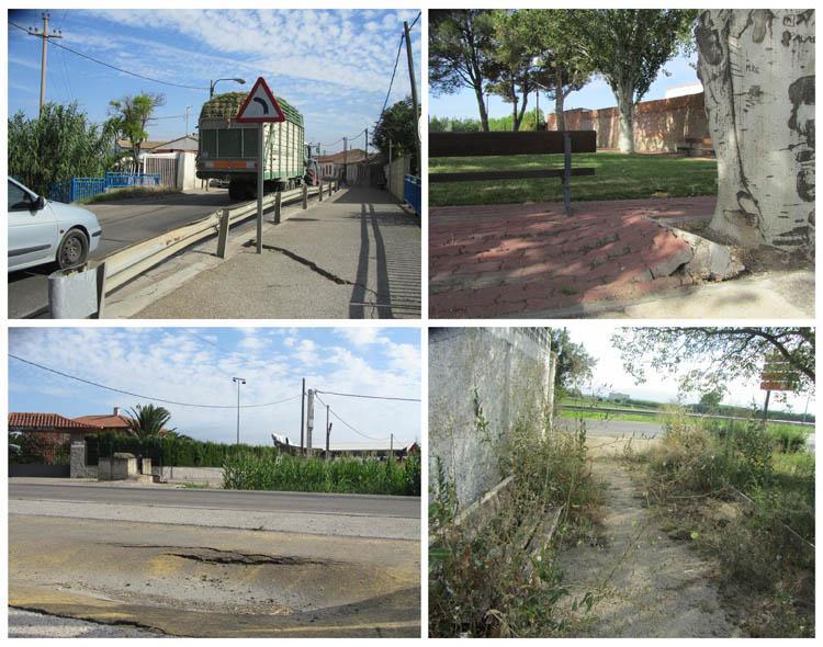 IU denuncia el abandono de viales, parques y jardines en Movera