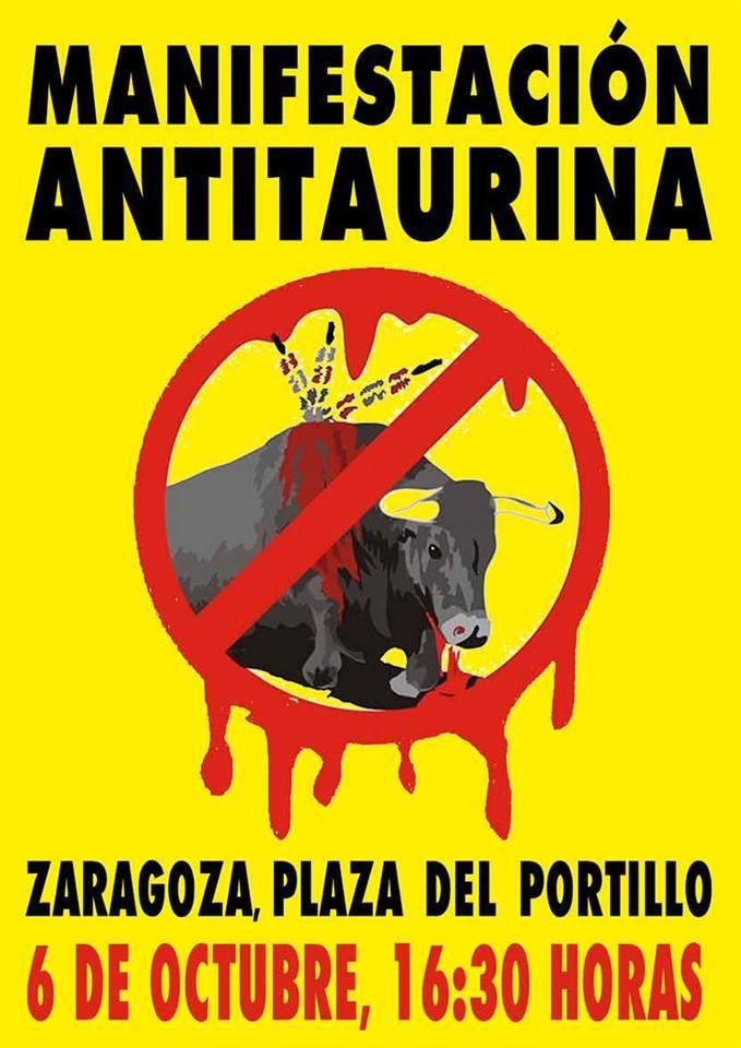 Conferencias animalistas y manifestación antitaurina en octubre en Zaragoza con Amnistía Animal