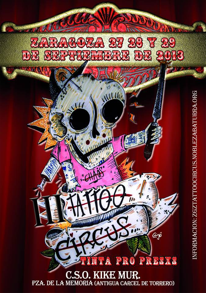 """La tercera edición del Tattoo Circus de Zaragoza llena de tinta """"propresxs"""" el fin de semana"""