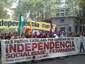 Puyalón y Purna presentes en los actos de la Esquerra Independentista. Foto: AraInfo