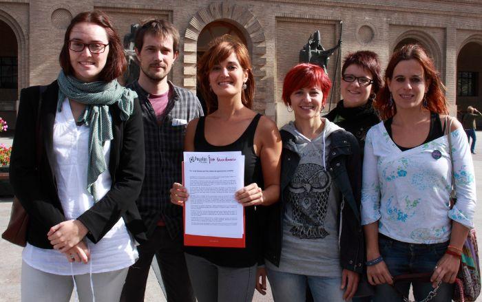 Presentan en el Ayuntamiento de Zaragoza una campaña por unas fiestas del Pilar libres de agresiones sexistas