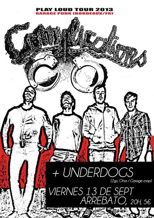 Viernes 13 con The Complications y Underdogs en Arrebato