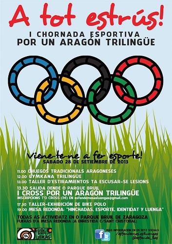 Esfendemos as luengas organiza una Chornada esportiva por un Aragón Trilingüe