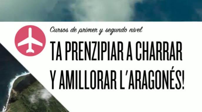 Fablans y O trango publicitan a suya ufierta de cursos d'aragonés