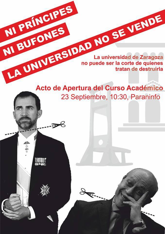Facebook elimina un evento sobre la presencia del príncipe Felipe en Zaragoza en la apertura del curso universitario