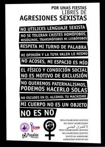 Cartel #pilarsfeministas
