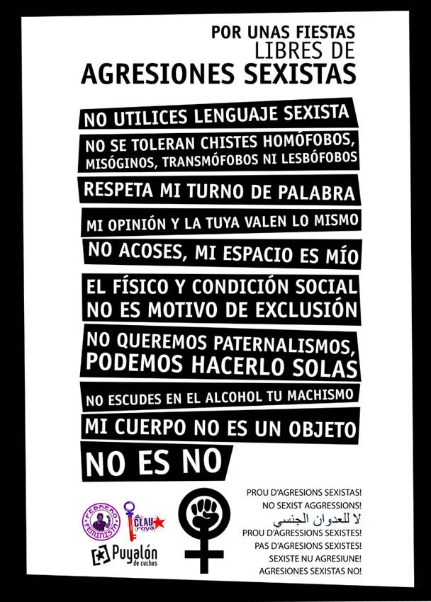 Denuncian la «falta de sensibilidad y de interés» del Ayuntamiento de Zaragoza frente a las agresiones sexistas