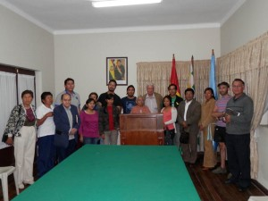 Representantes del Movimiento Boliviano de Solidaridad con Cuba. Foto: Somos Sur