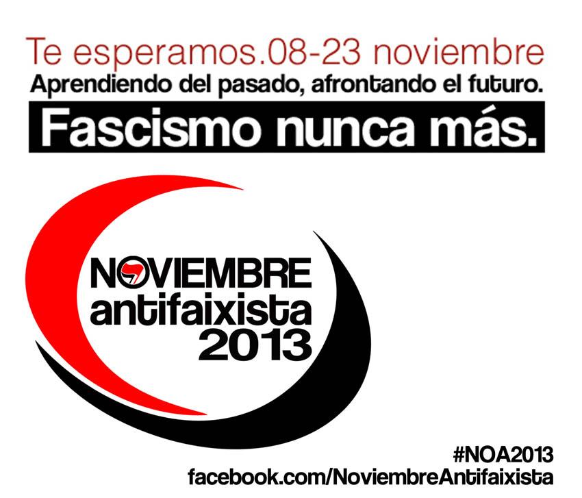 """""""Aprendiendo del pasado, afrontando el futuro. Fascismo nunca más"""", sextas jornadas Noviembre Antifaixista"""
