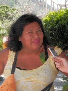 Nazareth Flores, presidenta de la Central de Pueblos Indígenas del Beni. Foto: Ainhoa Fernández (AraInfo)