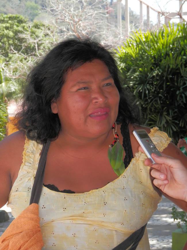 """Nazareth Flores, presidenta de la Central de Pueblos Indígenas del Beni: """"El TIPNIS es un pulmón del mundo, y eso hay que cuidarlo"""""""
