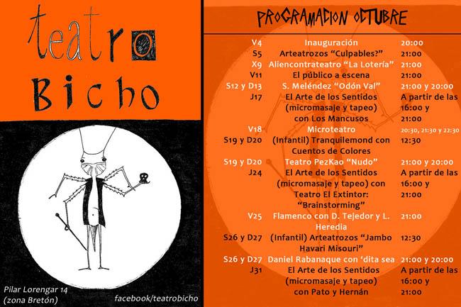 Teatro Bicho abre hoy sus puertas en Zaragoza