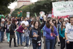 Protestas contra la LOMCE en Zaragoza. Foto: Juan Manzanara (Archivo)