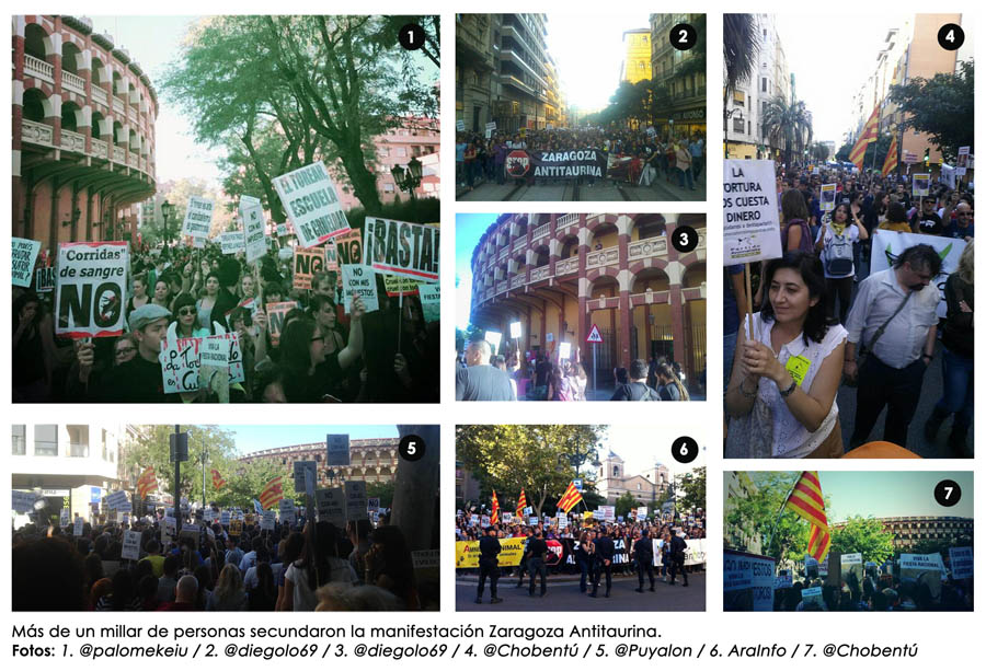 [Vídeo/crónica] Zaragoza antitaurina se mueve en defensa de los derechos de los animales