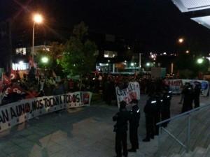 Protesta en la sede de Konecta en Madrid. Foto: CGT