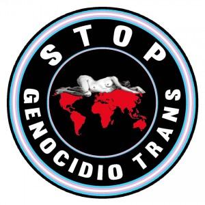 STOP genocidio trans logo
