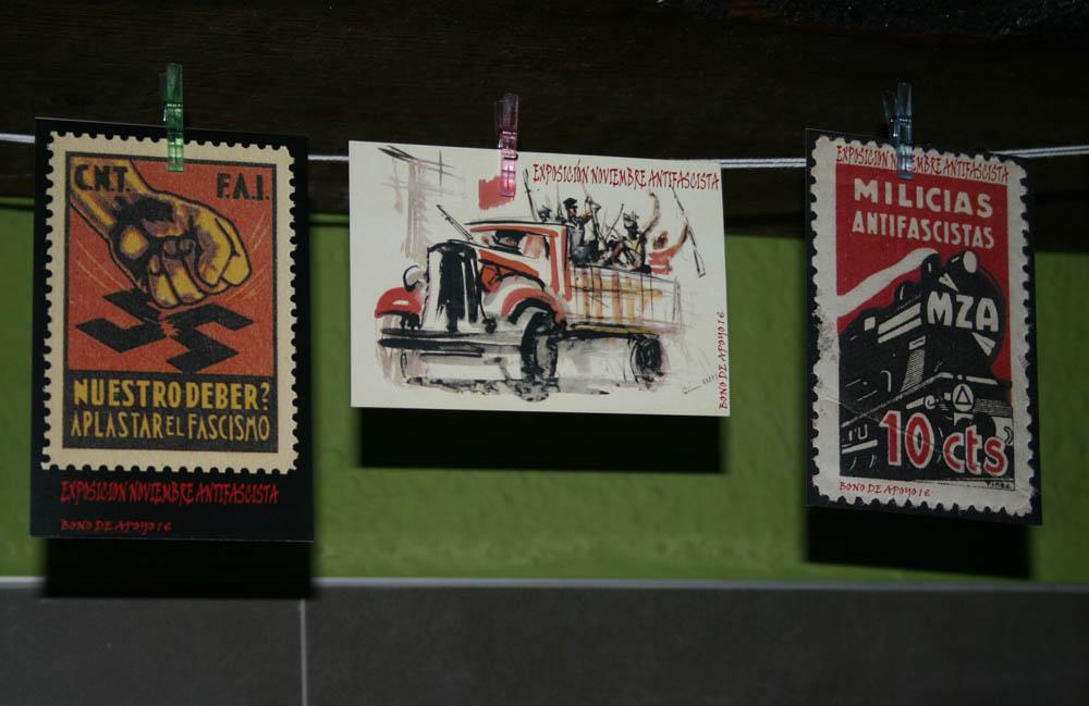 Comienza Noviembre Antifaixista con la inauguración de una exposición de sellos originales de la Guerra Civil