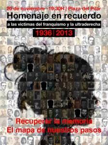 cartel HOMENAJE VICTIMAS FASCISMO