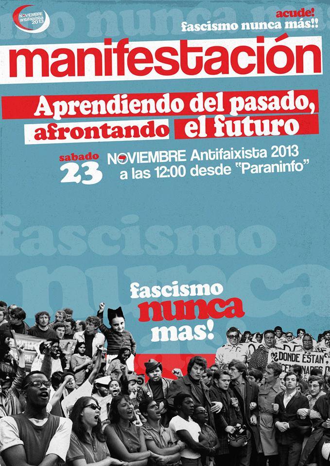 Zaragoza se manifiesta contra el fascismo