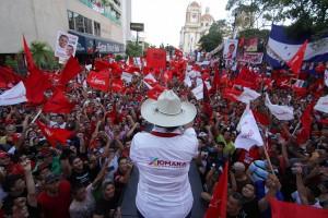 El Partido Libre de Honduras convoca este sábado una gran movilización para rechazar resultados electorales. Foto: Hondudiario