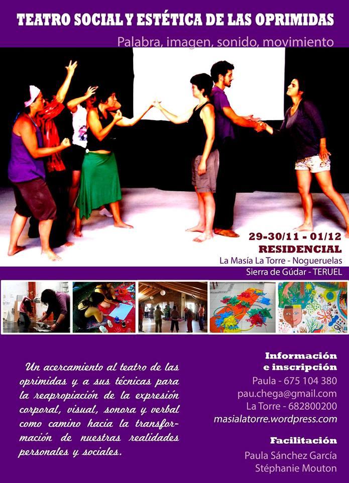 """Taller de """"teatro social y estética de las oprimidas"""" en Nogueruelas"""