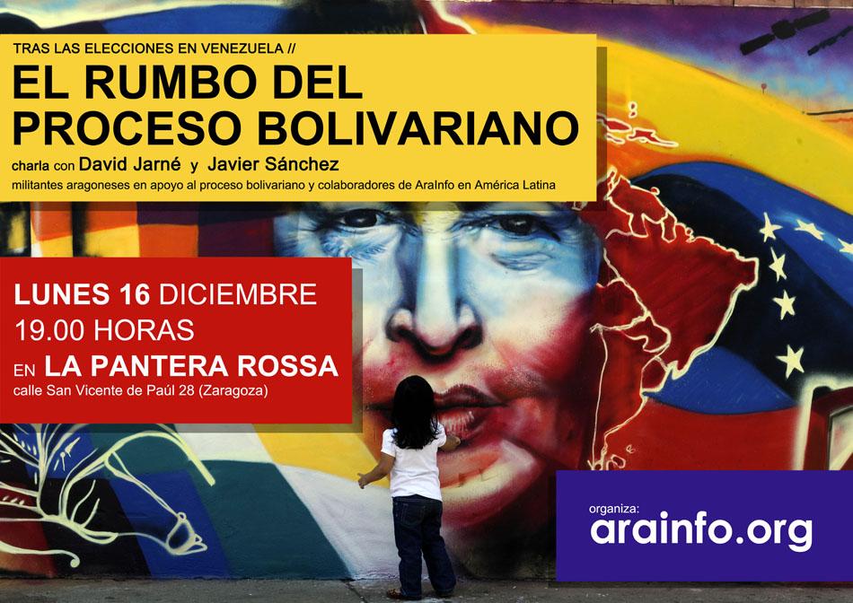 'El rumbo del Proceso Bolivariano', charla-debate con dos coloboradores de AraInfo en América Latina