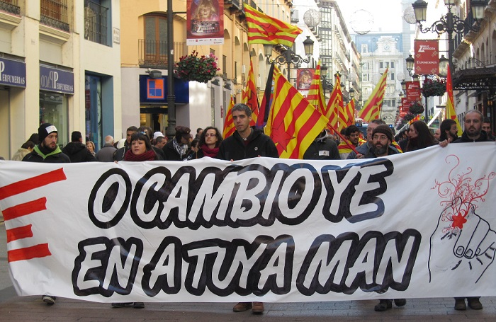 Sindicatos presentan la carta social aragonesa con motivo del Diya d´Aragón