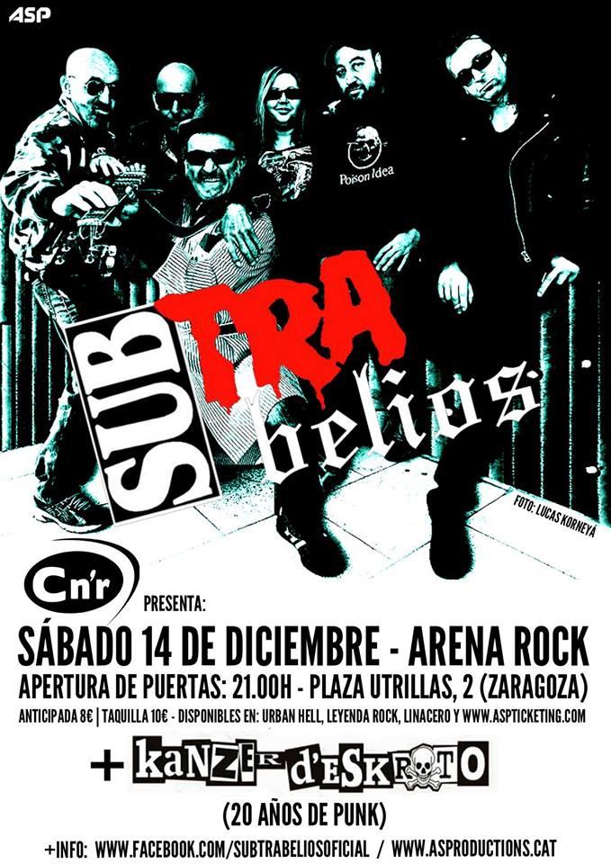 SubTrabelios y Kanzer D'Eskroto esta noche en el Arena Rock