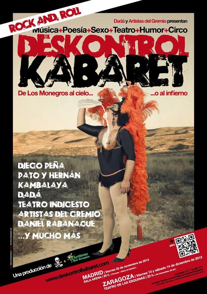 Poesía, teatro, música, humor y circo se unen en Deskontrol Kabaret