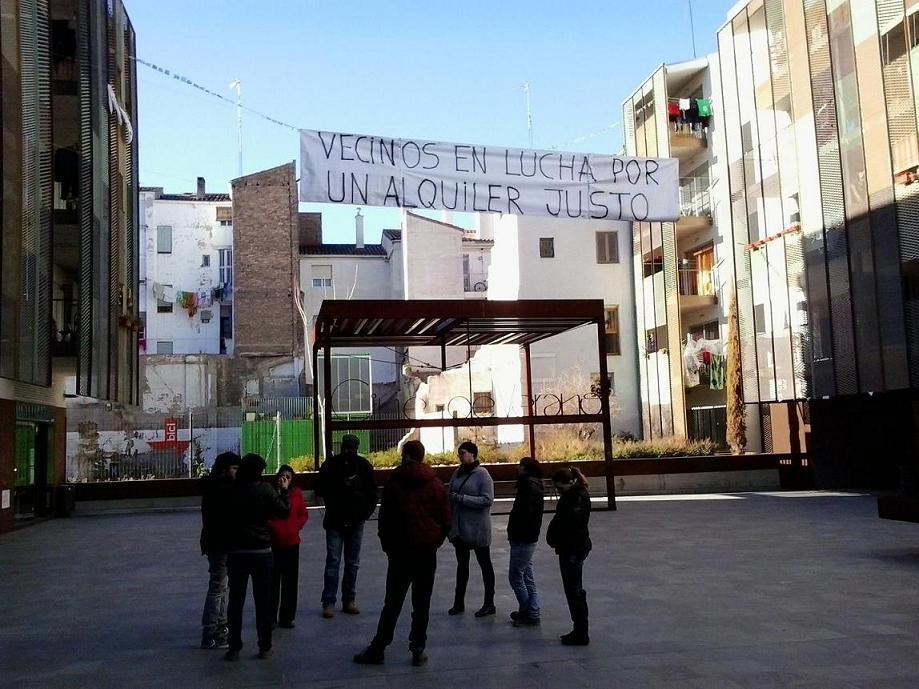 La Asamblea del Gancho de Zaragoza en lucha contra la gentrificación