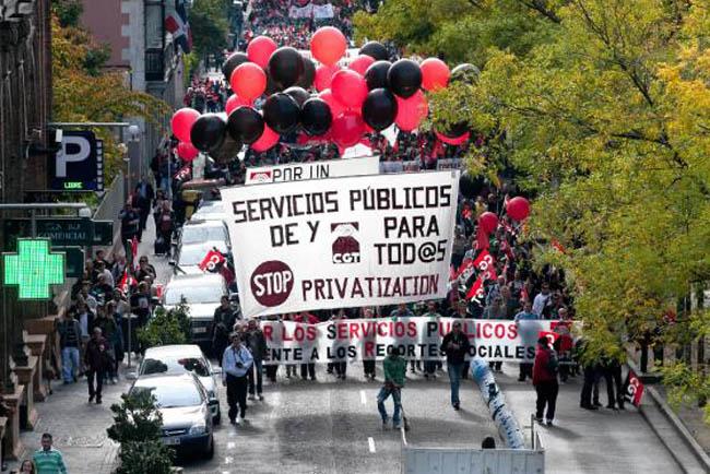 CGT presenta una campaña en defensa de los Servicios Públicos