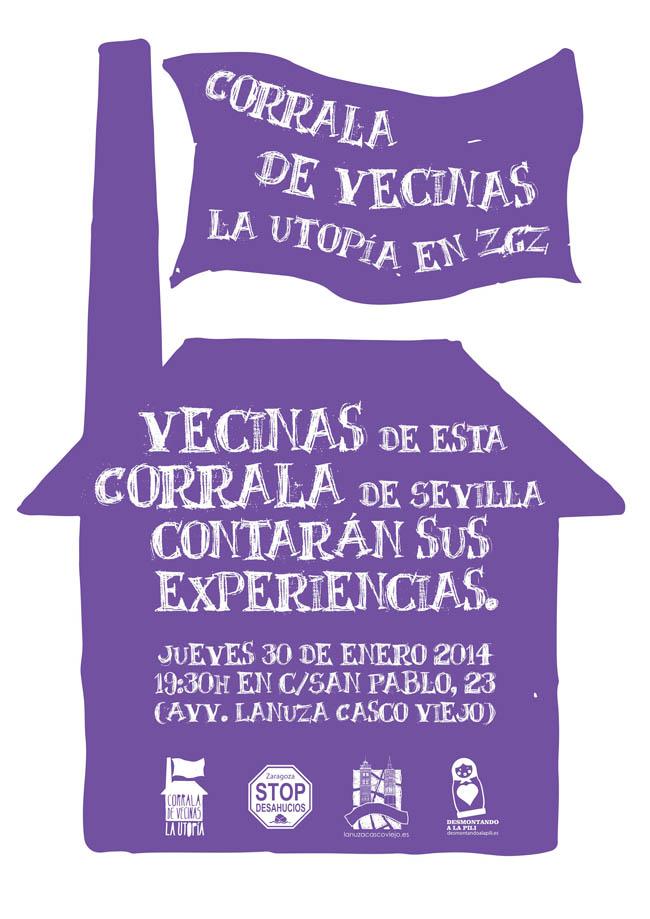 Vecinas de la Corrala Utopía de Sevilla contarán sus experiencias en la AV Lanuza Casco Viejo