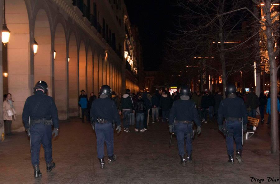 El PP aumenta la represión policial en Zaragoza como respuesta al descontento social generalizado