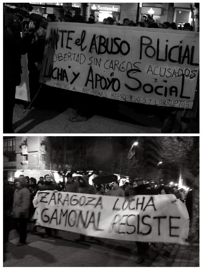 """Gamonal insiste: """"¡Detenidos absolución!"""""""