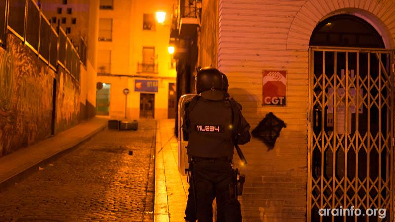 CGT exige la libertad sin cargos de las cuatro personas detenidas en Zaragoza este viernes