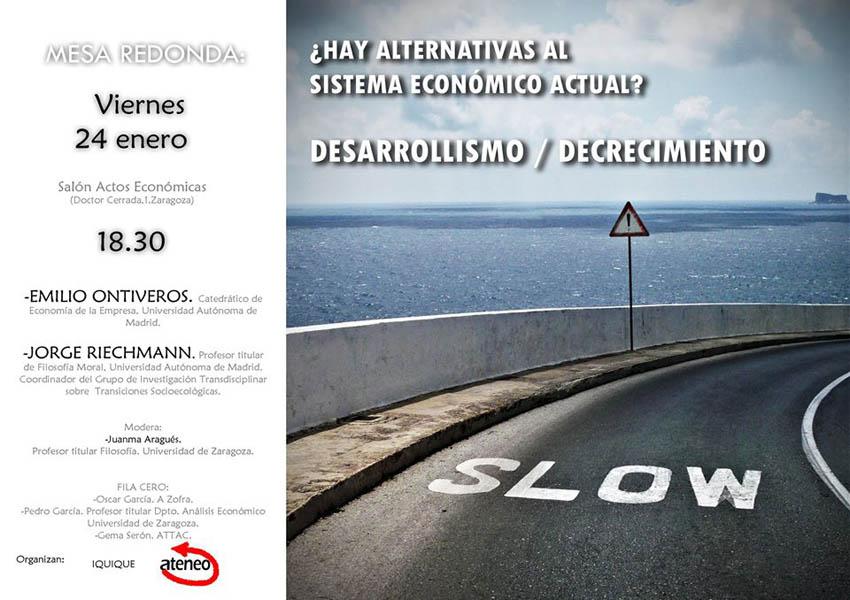 """""""¿Hay alternativas al sistema económico actual?"""" con Emilio Ontiveros y Jorge Riechmann"""