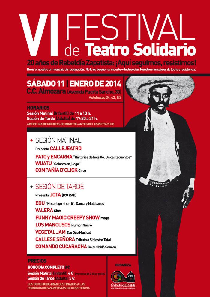 """Este sábado cita con el VI Festival solidario con Chiapas: """"Aquí seguimos. Resistimos"""""""