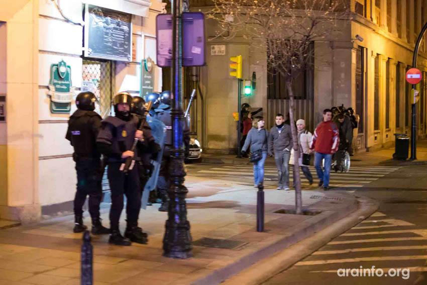 """CHA pedirá explicaciones en el Congreso por la """"indiscriminada actuación policial"""" del fin de semana en Zaragoza"""