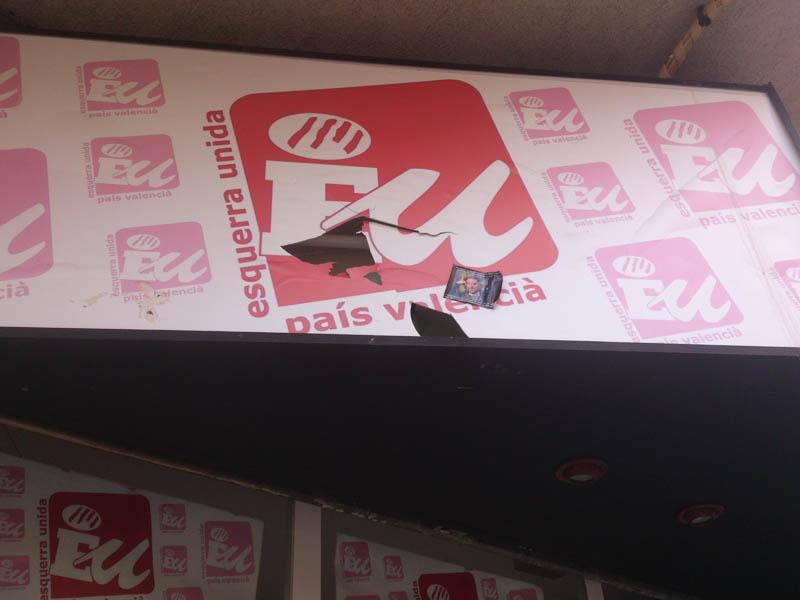 Ultraderechistas atacan la sede de Esquerra Unida en Castelló