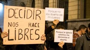 Protesta de la Asamblea Feminista en Zaragoza. Foto: Pablo Ibañez (AraInfo)