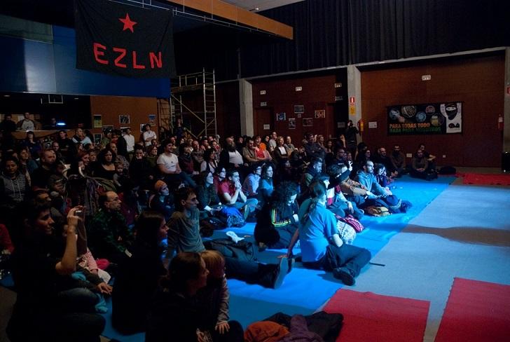 Caracol Zaragoza agradece la participación en el 20º aniversario del levantamiento zapatista