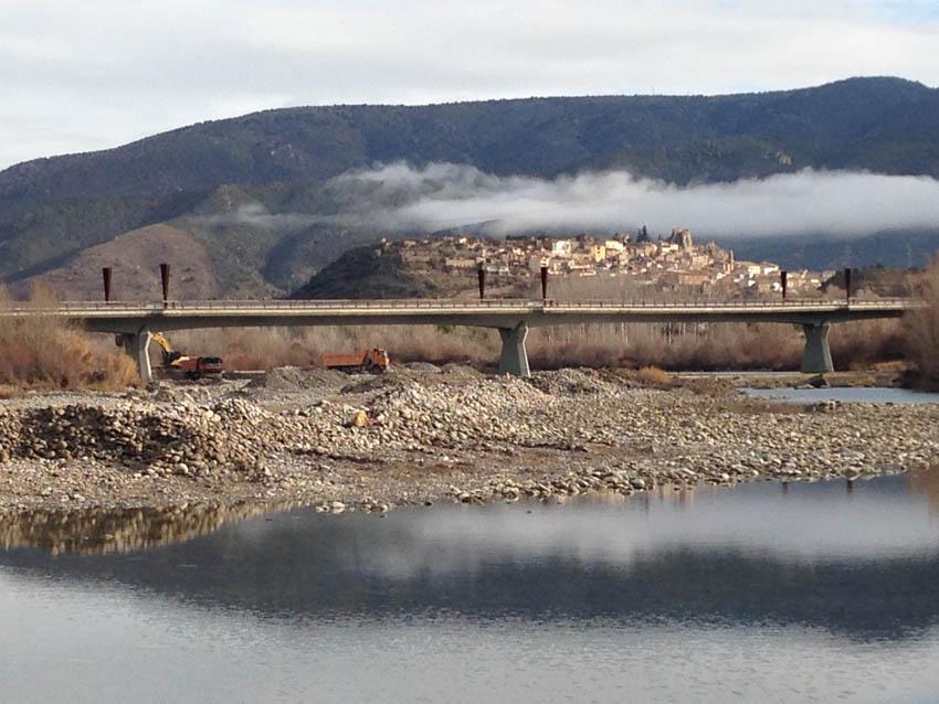 IU denuncia la extracción sin autorización de áridos en el río Cinca
