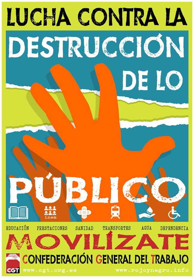 CGT inicia una campaña en defensa de los servicios públicos