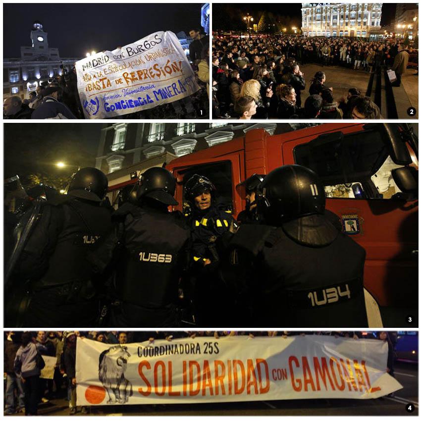 La solidaridad con Gamonal y la indignación se extienden por toda la península