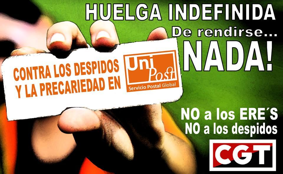 La plantilla de Unipost se concentra hoy en Zaragoza