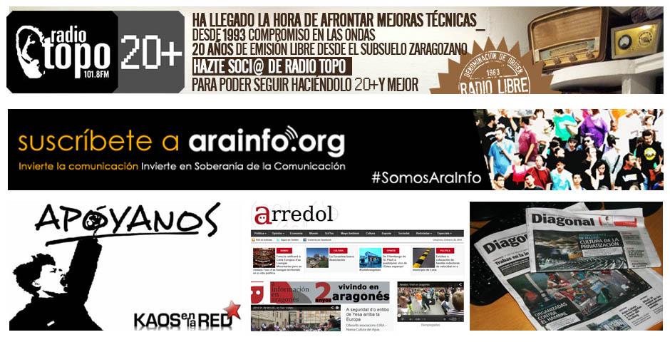 Apoyemos a Radio Topo. Apoyemos los medios independientes