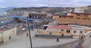 En la imagen, el paso fronterizo del Tarajal en Ceuta.