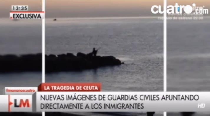 Un nuevo vídeo demuestra que la Guardia Civil disparó material antidisturbios desde el agua a los inmigrantes